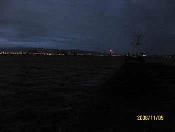 博多湾から